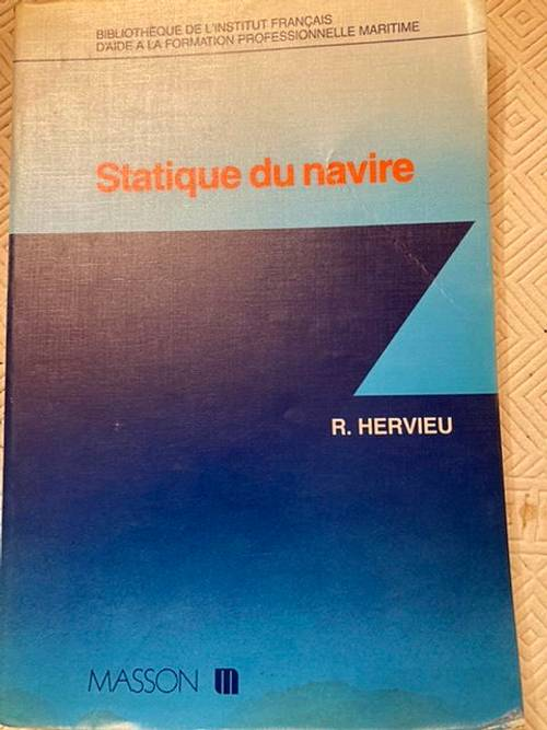 "Vends ouvrage ""statique du navire"""