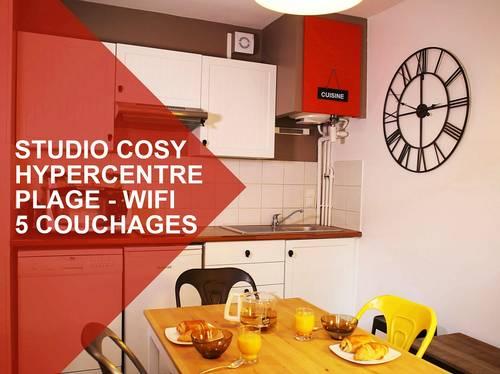 Propose Studio Biarritz hyper centre, 100m plage, 4/5couchages (wifi), refait à neuf