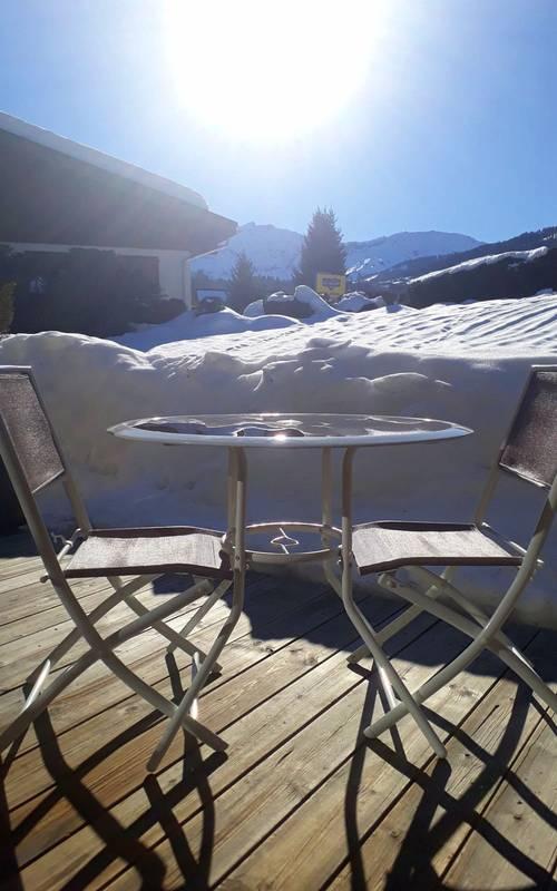 Propose Studio avec une terrasse plein sud- 3couchages- Megèves (74)