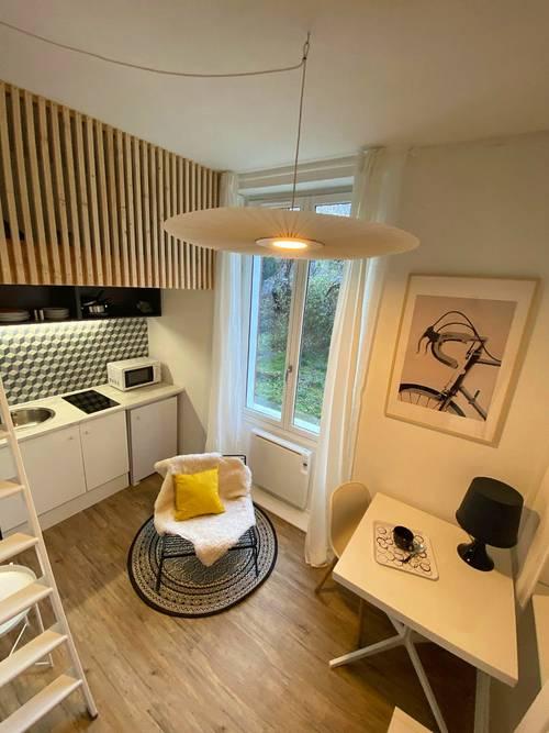 Loue studio cosy meublé rénovation dec 2020- 13m², Grenoble (38)
