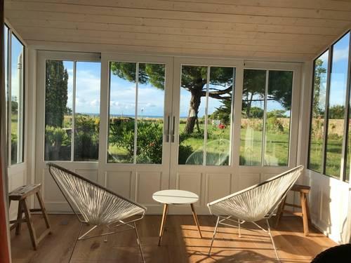 Loue villa d'architecte, vue mer, plages Ile de Re (17), 11couchages, piscine