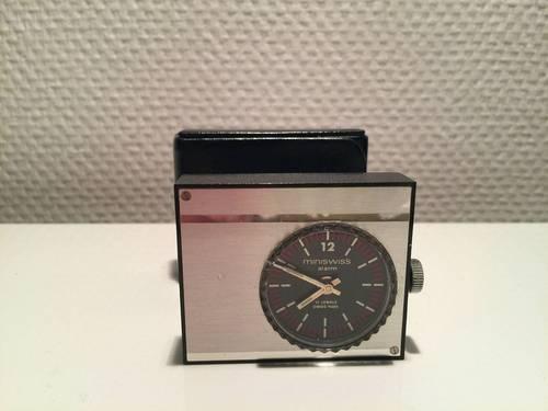 Mini swiss alarm clock 17jewels swiss made 1970