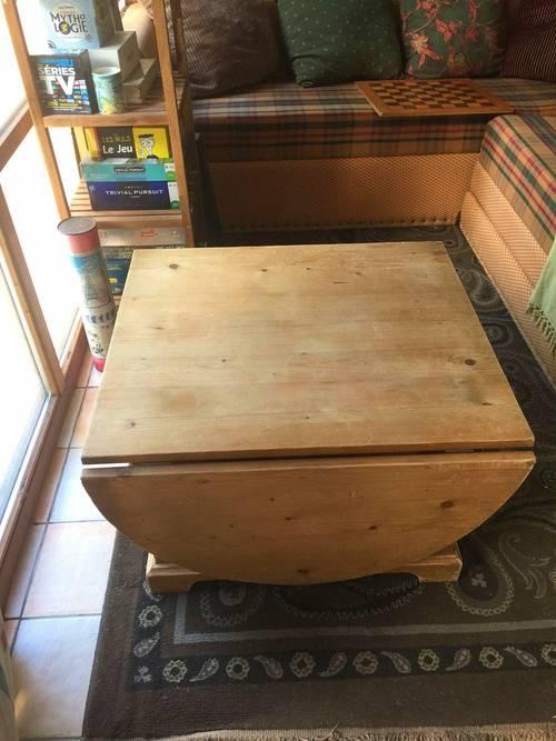 Table de salon à patiner; idéale pour déco cosy
