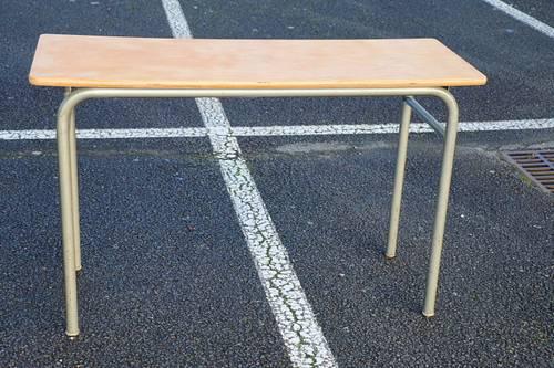 Table/sellette bois et métal gris 1190mm