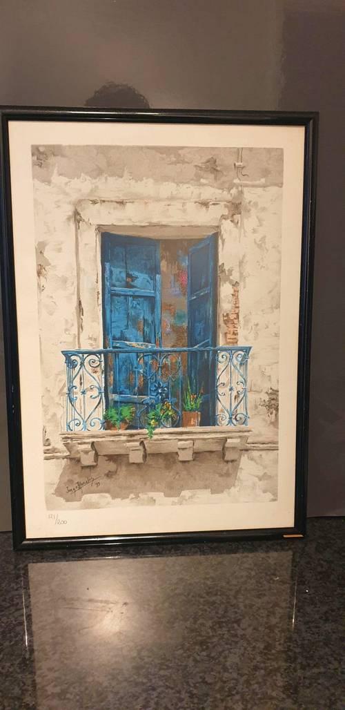 Un tableau original signé de Jorge A Moralès