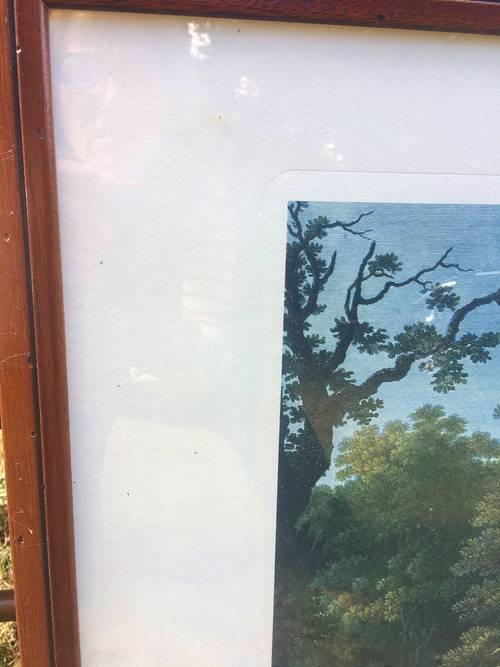 Tableau paysage champêtre anglais