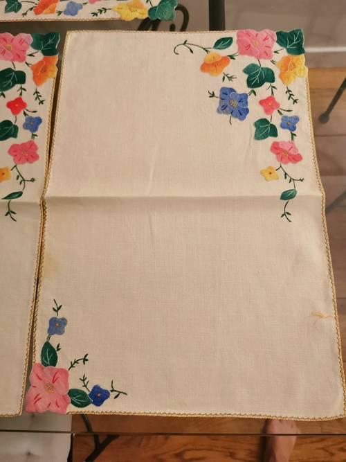 Set de tables coton fleuri