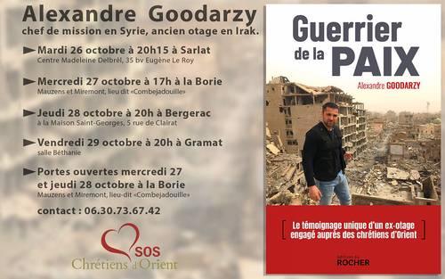 Conférence: Témoignage d'Alexandre Goodarzy - Syrie - Guerrier de la Paix