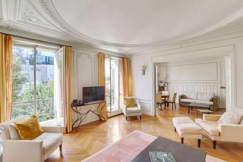 Loue Av des Ternes 4pièces 117m² ensoleilée, meublée, vues sur jardin - Paris (75017)