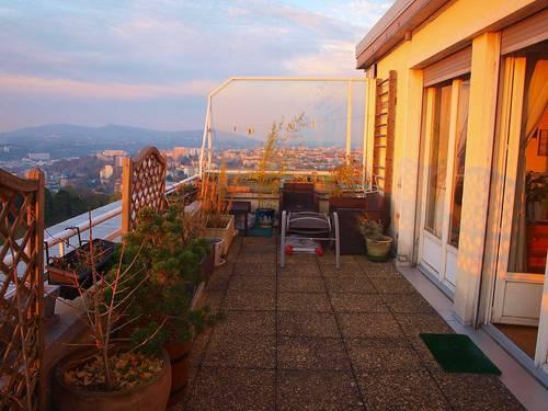 Loue Appt en toit-terrasse Vue panoramique Fourvière/Vieux Lyon, 3couchages