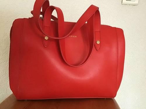Vends sac à main Texier rouge