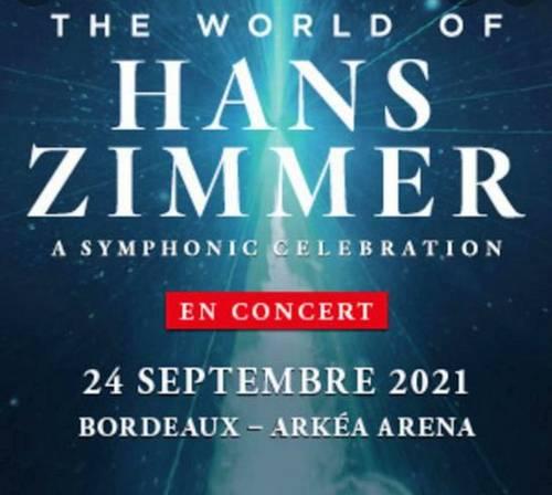 Vends 3tickets concert: Hans Zimmer - 24septembre - Bordeaux (33)