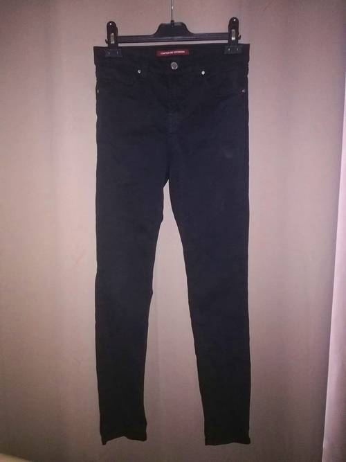 Jean en toile slim noir taille 34Comptoir des Cotonniers