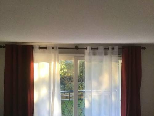 Tringle à rideaux en bois foncé 2,90m