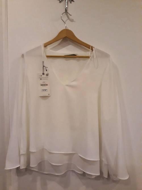 Tunique blanche Zara NEUVE. Taille M