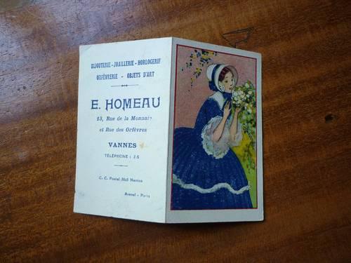 Vannes almanach publicitaire 1928