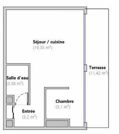 Loue appartement T231m² avec grande terrasse de 12m² à Vanves (92)