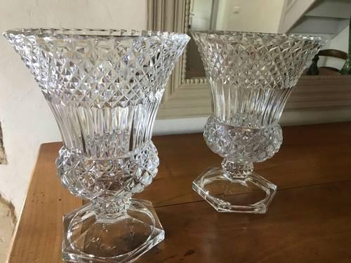 2vases en cristal