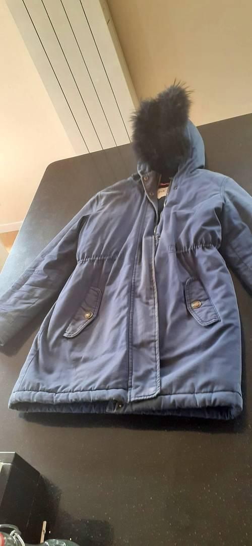 Vendons manteau d'hiver Cyrillus bleu marine, taille 16ans
