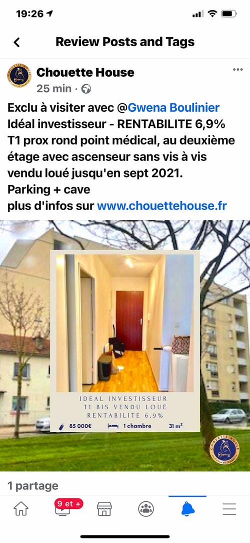 Vends T1bis 31m² - Dijon (21)