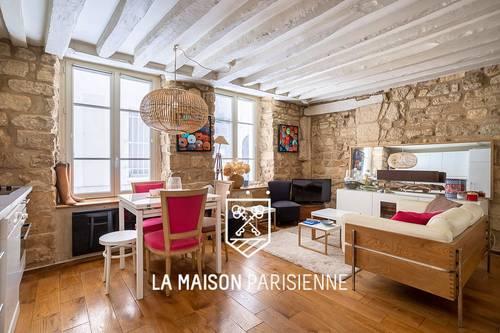 Vends appartement Quai des Celestins, Paris 4ème Esprit LOFT - 1chambre, 31m²