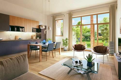 Vends appartement 2P 1CHde 53,2m² avec terrasse à LILLE