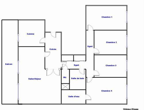 Vends appartement T6Lyon 9èmevue imprenable - 4chambres, 120m²