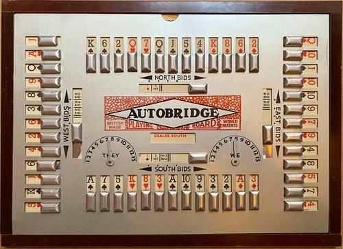 Vends jeu autobridge Années 1930- Playing board & parties/deals