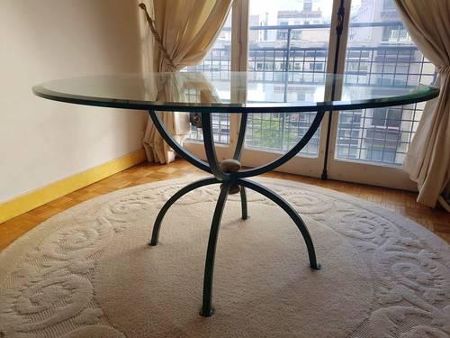 Vends table de salle à manger en verre