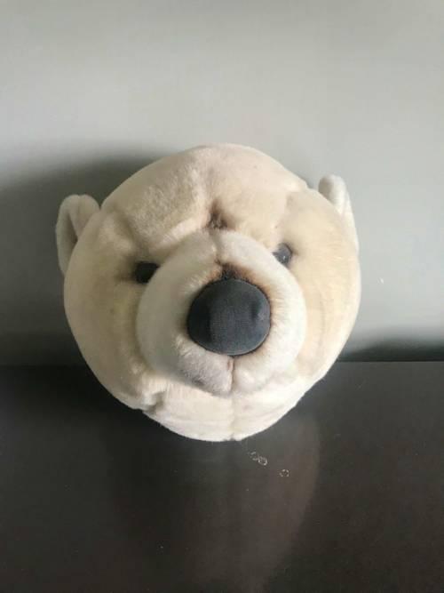 Vends tête ours blanc peluche