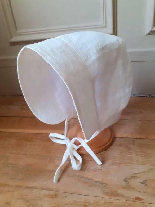 Vends bonnet en lin Bonpoint - taille 6mois