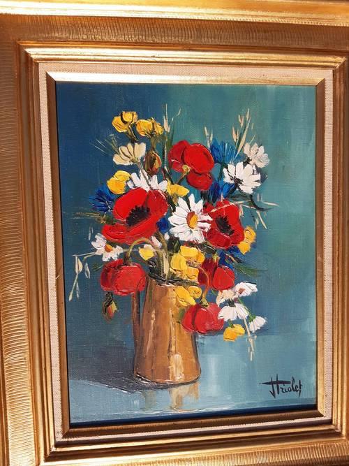 Vends bouquet peinture à l'huile
