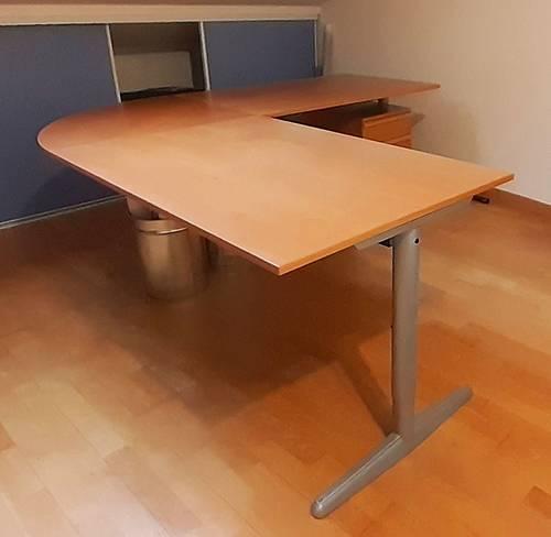 Vends beau bureau d'angle en bois