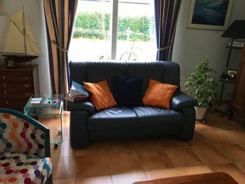 Vends canapé 2places en cuir
