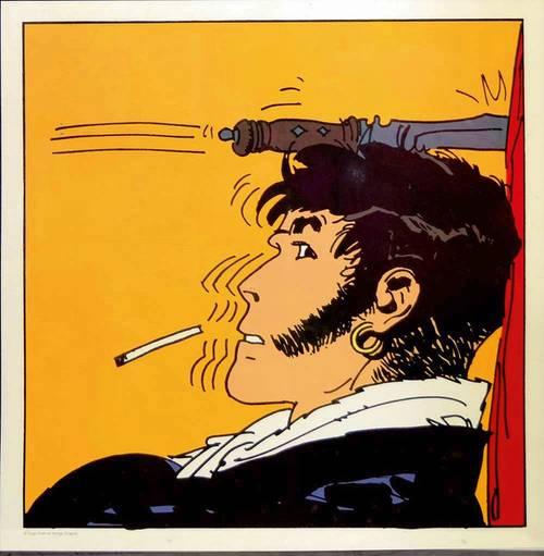 Vends Corto Maltese – Sérigraphie Couteau