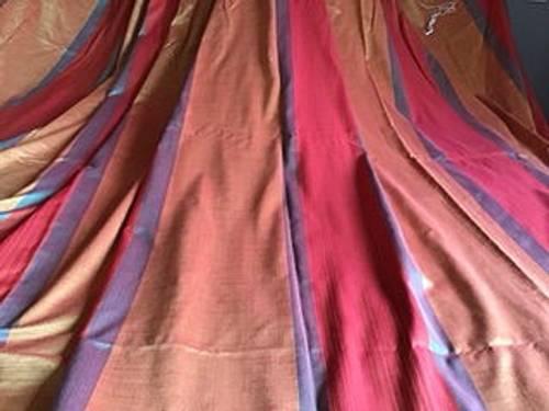 Vends 3double rideaux rouge/orangé