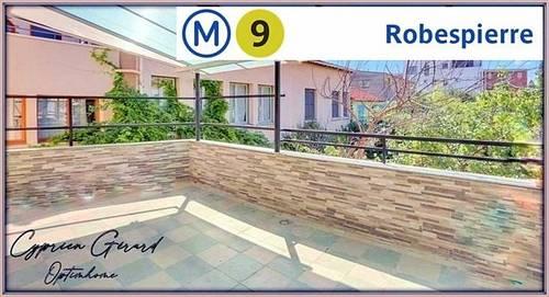 Vends Duplex esprit maison avec terrasse et balcon Métro Robespierre - 3chambres, 88m² - Bagnolet (93100)