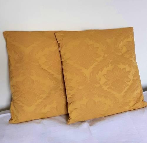 Vends élégante paire de coussins pour canapé