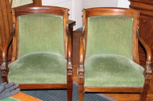 Vends fauteuils style Empire Napoléon