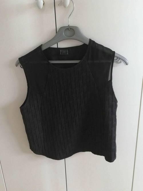 Vends top noir femme Zara - Taille S