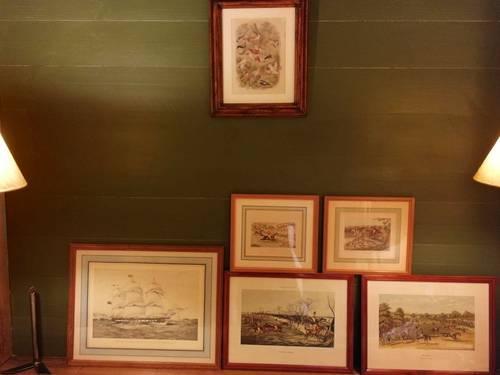 Vends gravures anglaises encadrées