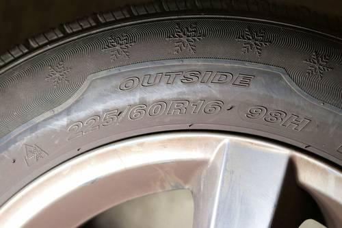 Vends 4jantes avec pneus hiver pour Renault Espace - Taille 225/60/R16