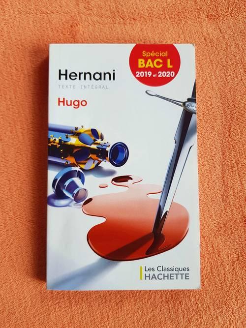 "Vends livre ""Hernani""  V.Hugo  Editions Hachette"
