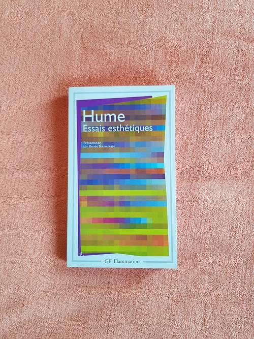 """Vends livre philosophique """"Hume essais esthétiques"""" R. Bouveresse"""