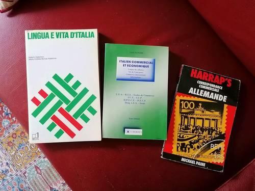 Vends livres d'italien et d'allemand