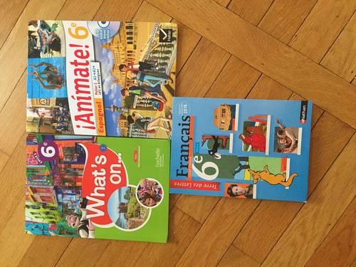 Vends manuels scolaires 6e