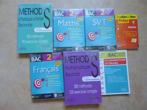 Vends manuels de Seconde