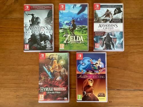 Vends 5jeux Nintendo Switch - état Neuf