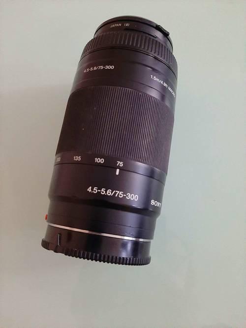 Vends objectif Sony 75- 300/ 4.5-5.6