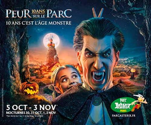 Vends 2places pour Halloween-Parc Astérix Nocturne